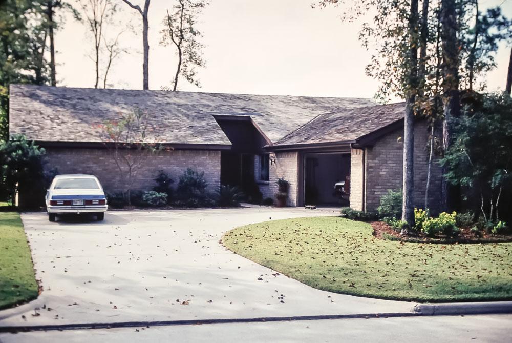 Miller home - Kingwood, Texas - November 1980
