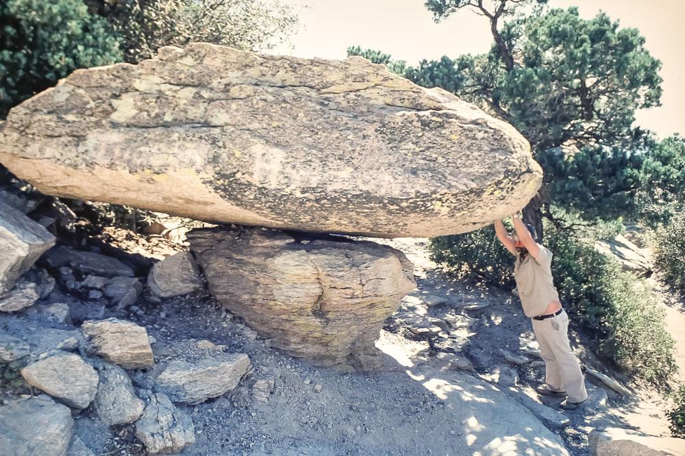 1981 Hiking wth Harold Bentley