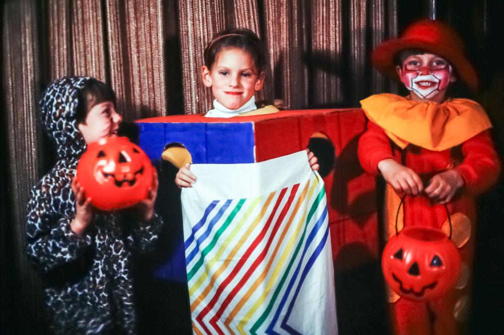 Steven, Kate, Andrew - Halloween - October 1981
