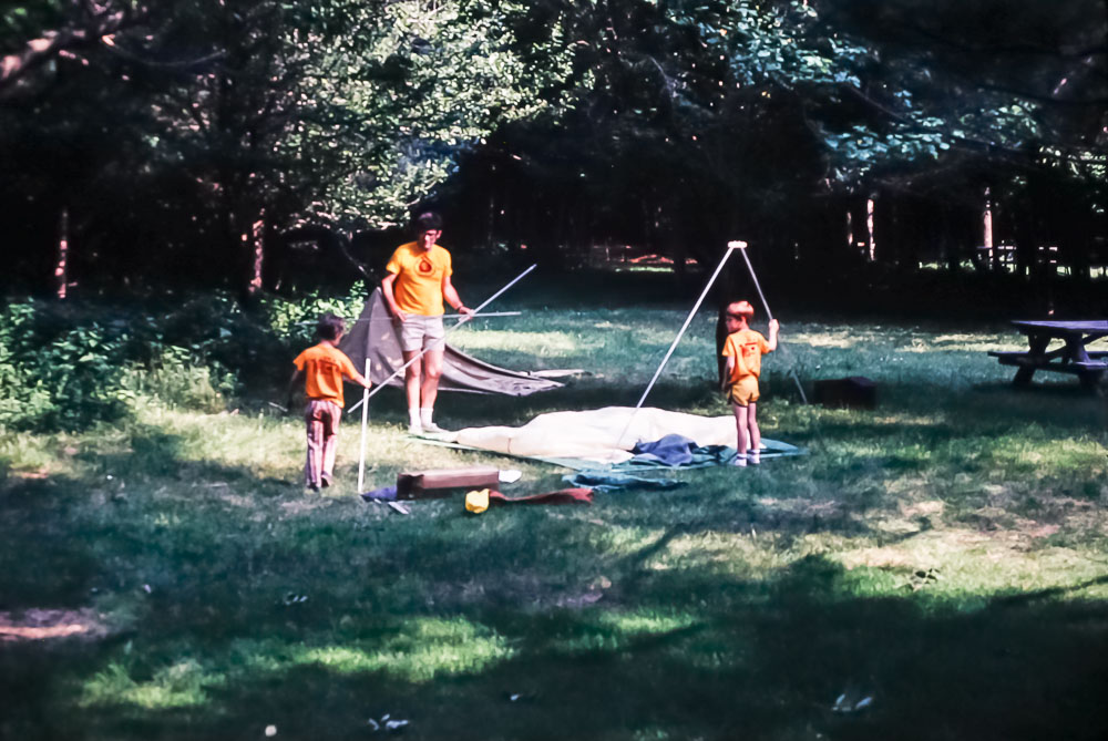 1982 Indian guides camp out