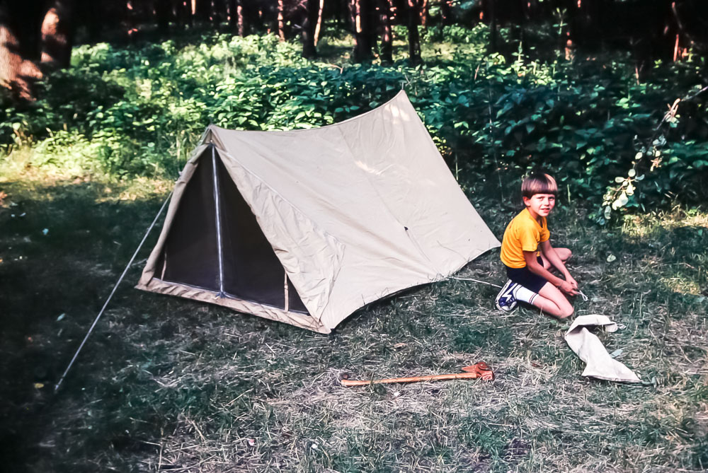 Indian Guides camping - July 1982