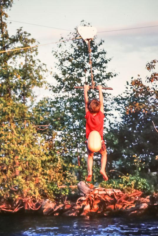 Steven on zoomer - August 1982