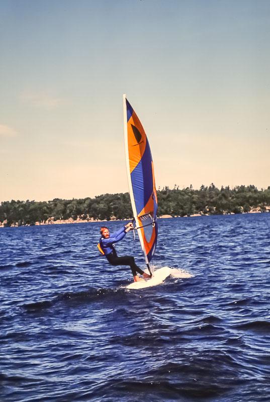 David windsurfing - September 1982
