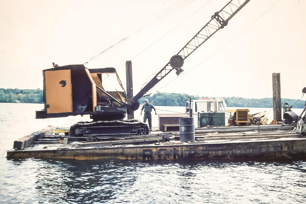 1982 Dredger on the lake
