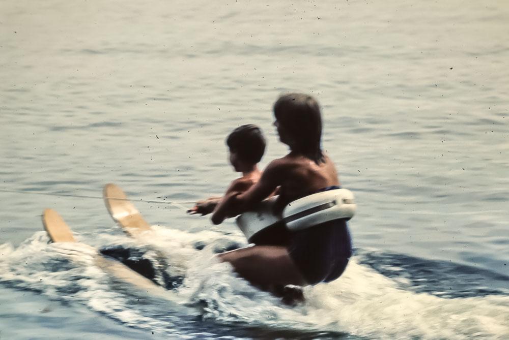 Steven learning to ski - September 1982
