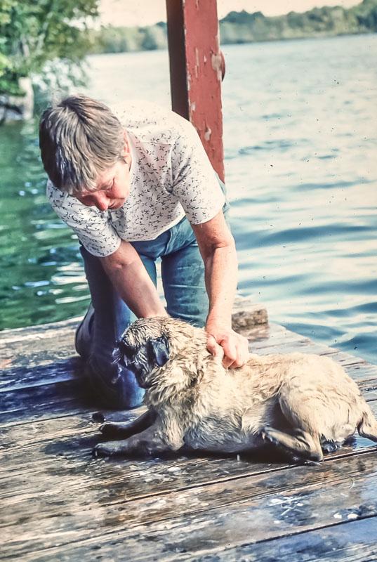 Max gets a bath - September 1982
