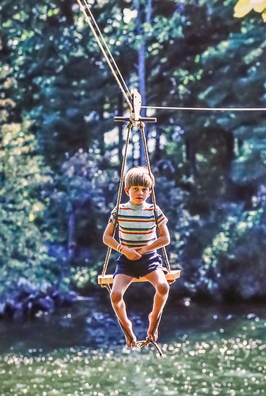 Andrew on zoomer - September 1982