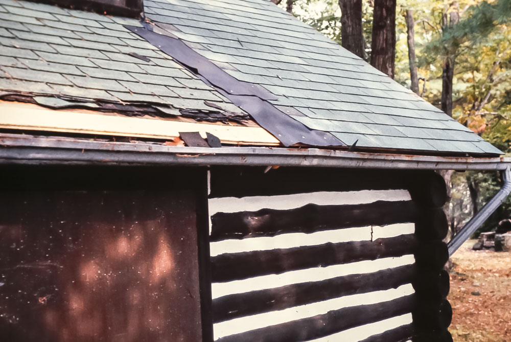 1982 New roof on main cabin