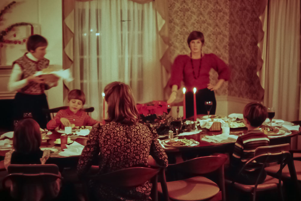 Christmas dinner at Liz's North Swarthmore House - 1982