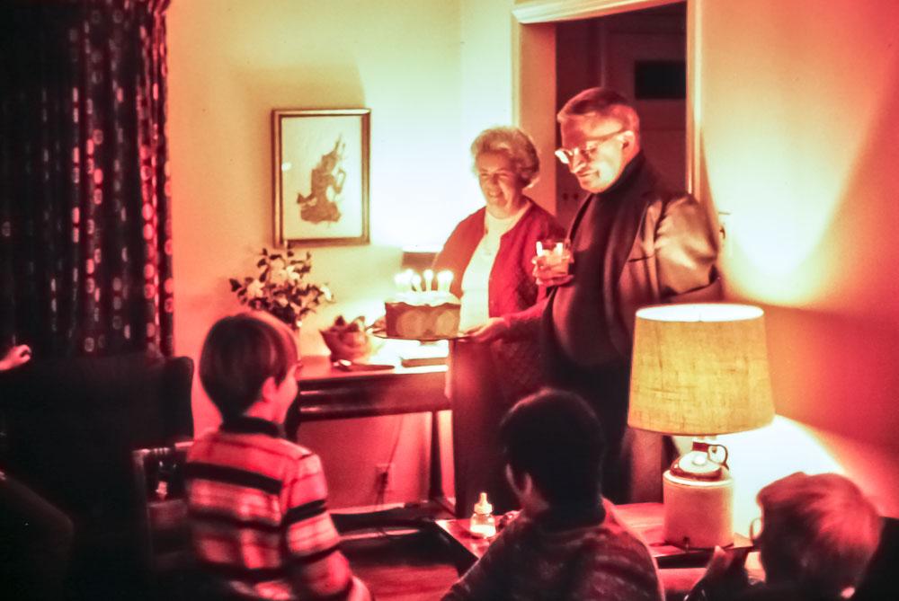 Andrew's birthday - 1982