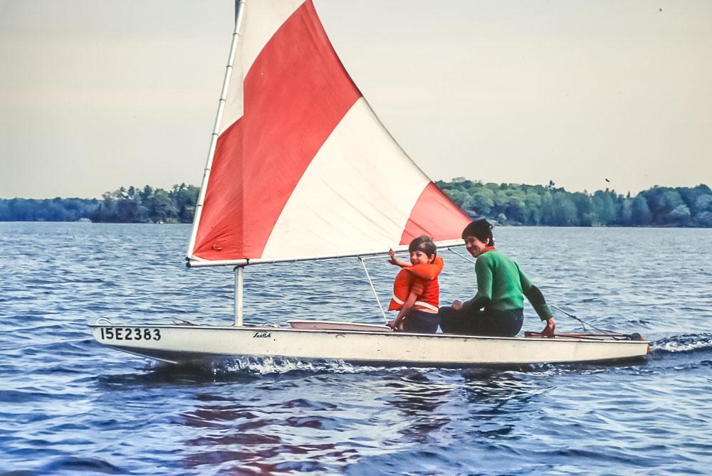 Sunfish sailing - June 1983