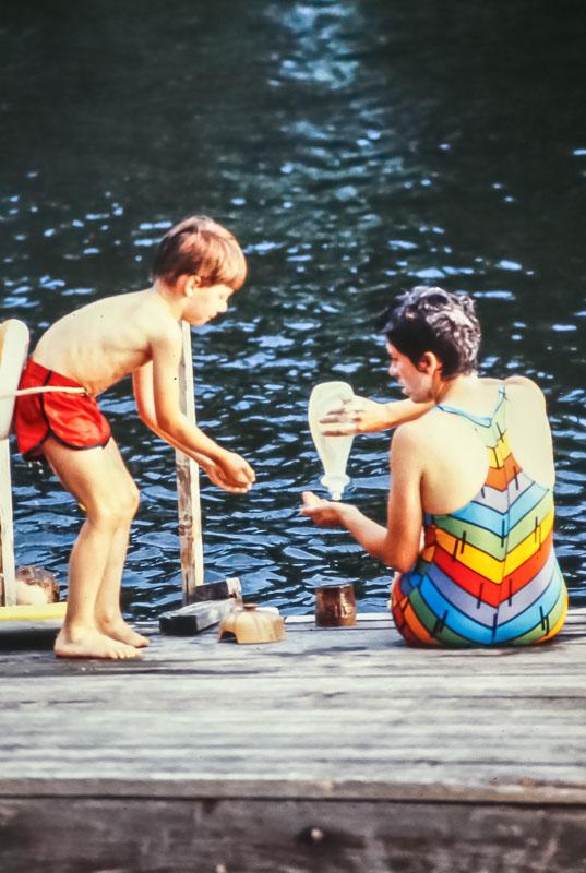 Bathtime at Island - August 1982