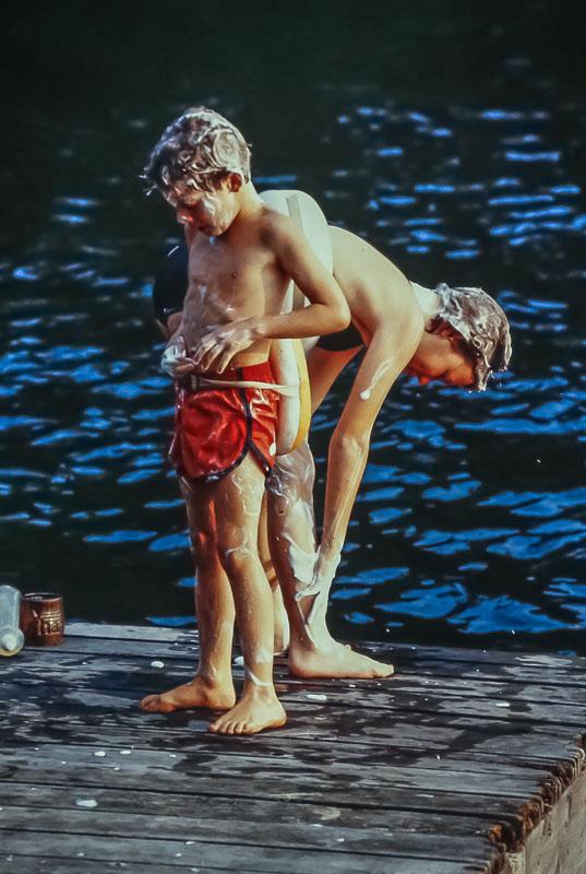 Bathtime - August 1982