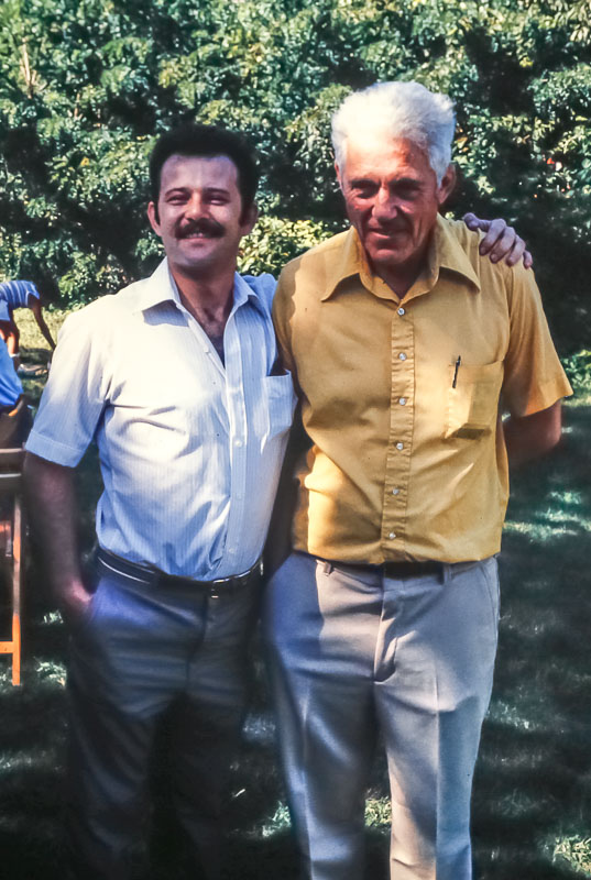 Cousin Kevin Maher and Uncle Fred Maher - August 1983