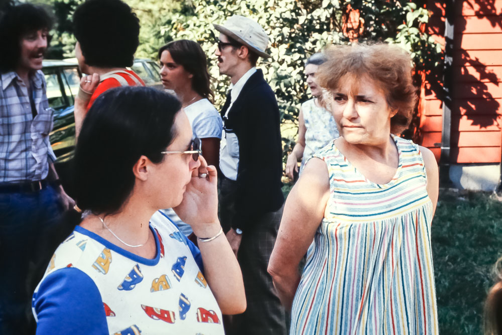 "Debbie Payne with her mother, ""Pete"" (Flavia) Maher Swearingen - August 1983"