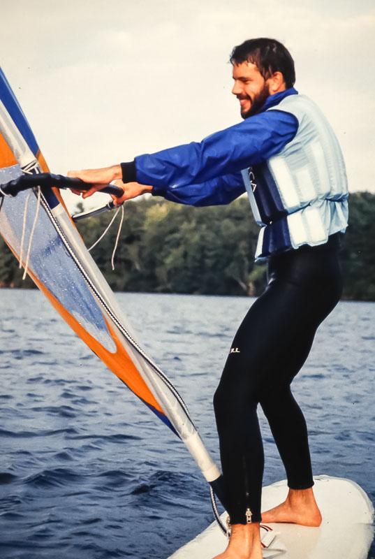 Windsurfer Nick Conrad - September 1983
