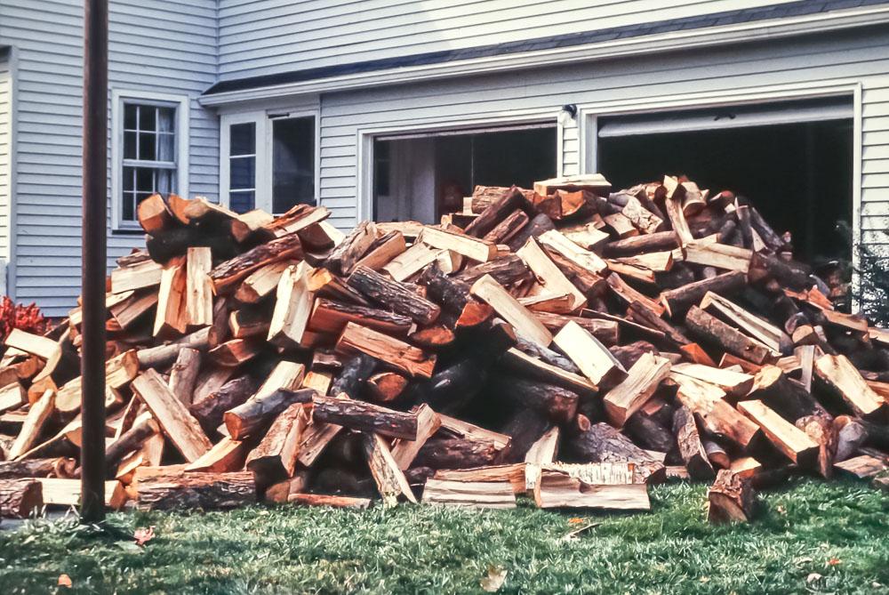 Wood delivery - November 1983
