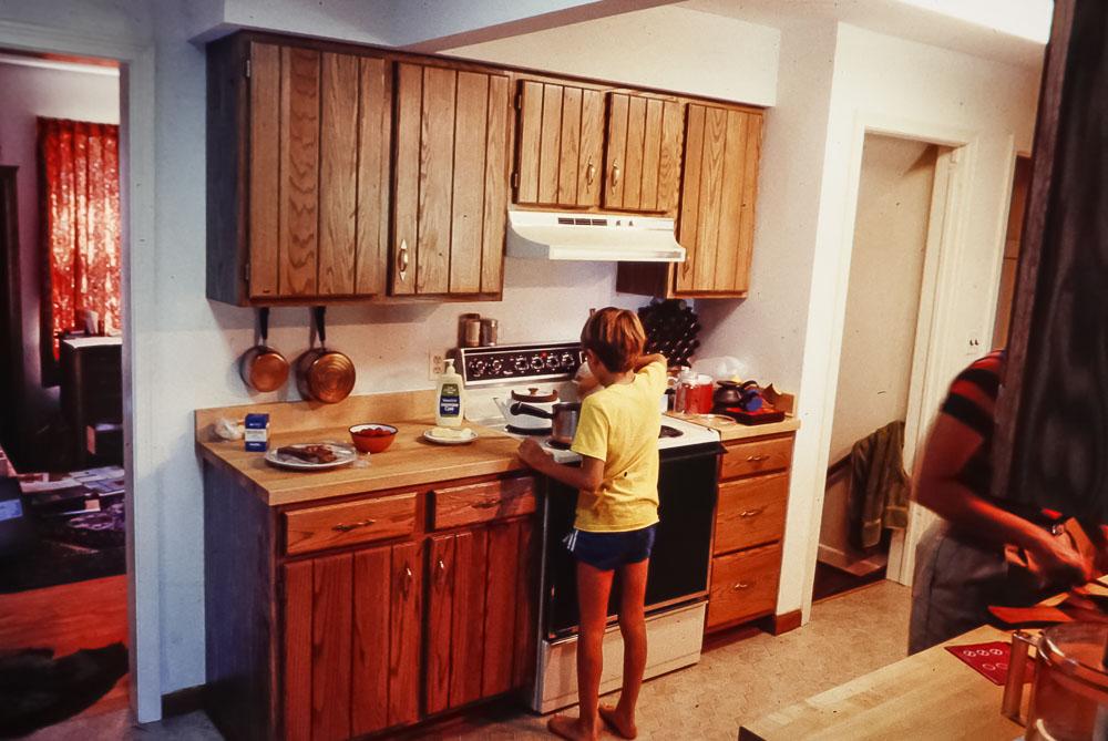 Danforth kitchen after  renovation - August 1984