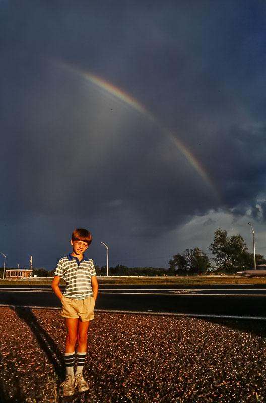Rainbow on way to Island - October 1984