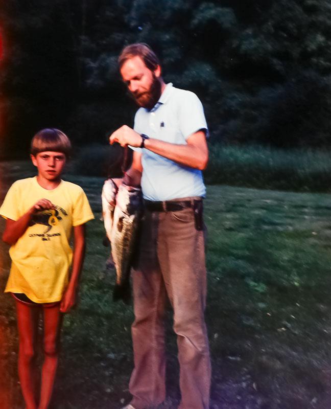 Fishing at Meadowbrook Lane - April 1985