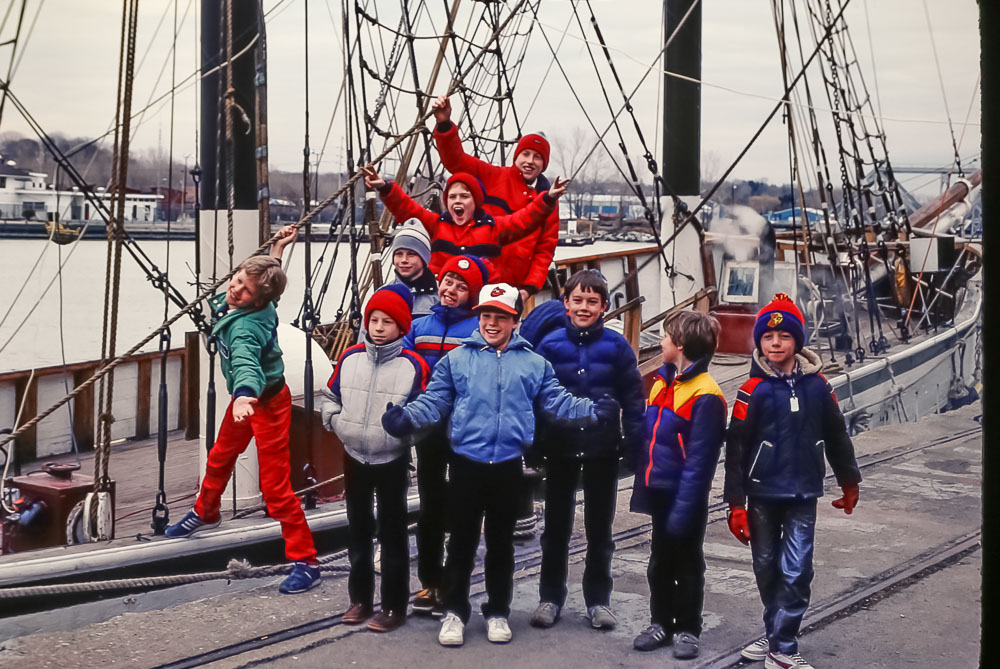 Scout trip to tall ships - April 1985