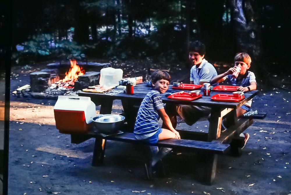 1985 Eighth Lake campsite