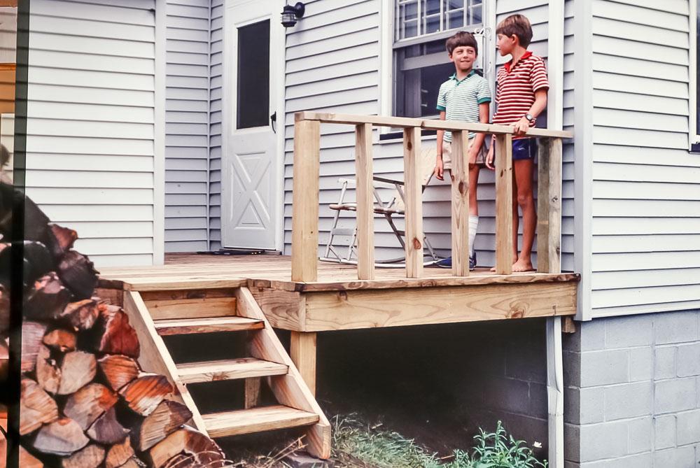 1985 New back step on Danforth house
