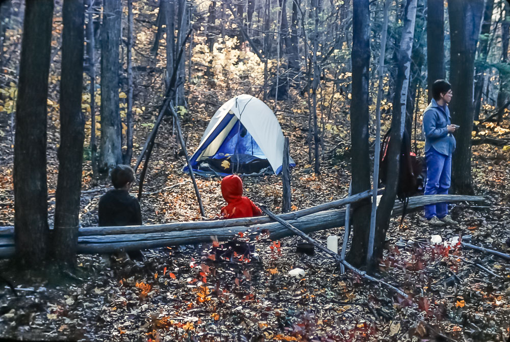 Backpacking at the Jump-Off - October 1985