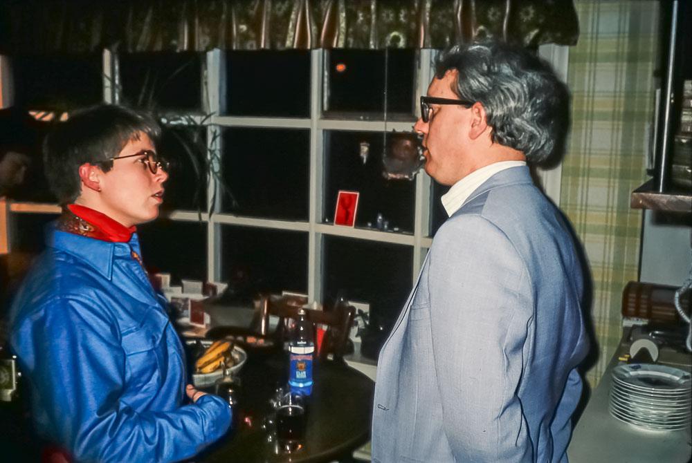 Gene Hoffnagle and Page Elmore Evett - Christmas 1985