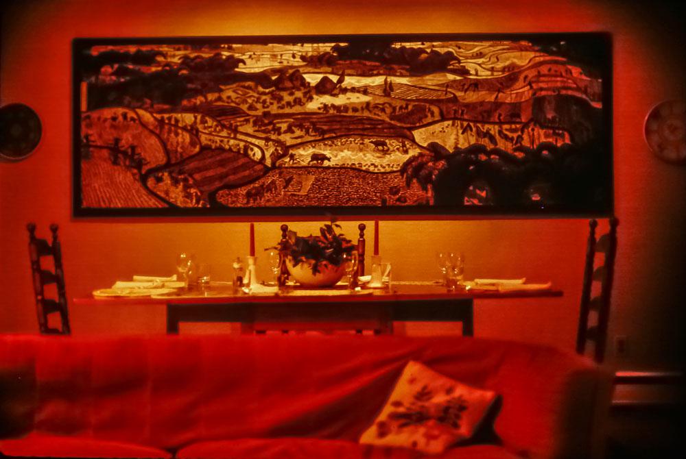 Paxon Hollow dinner table - December 1985
