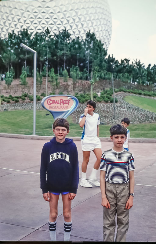 Andrew and Steven - Epcot - March 1986