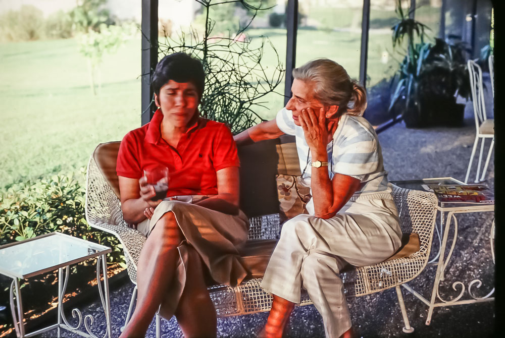 Janet with Reva Diamond - March 1986