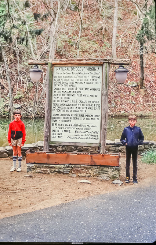 Natural Bridge, VA - March 1986