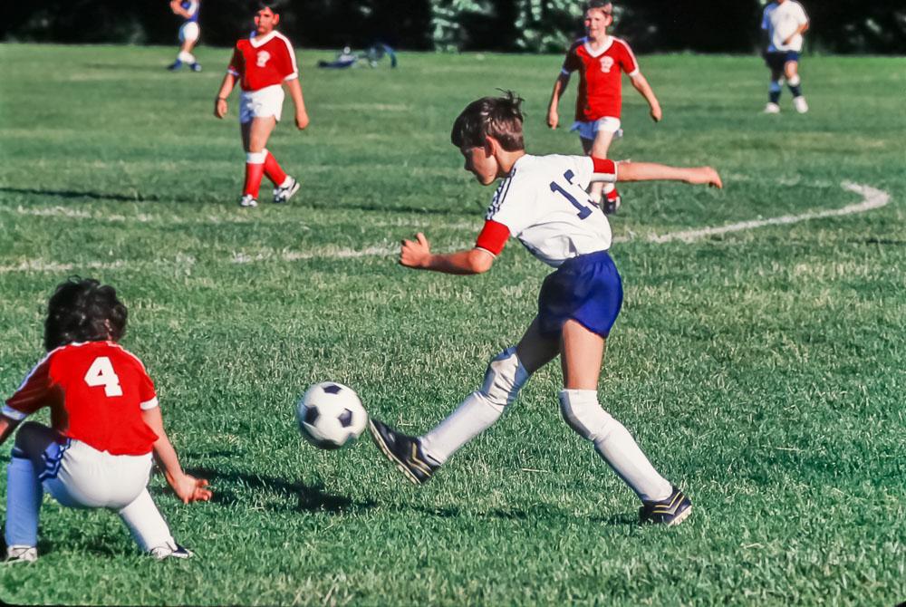 Steven in Brighton soccer, June 1986