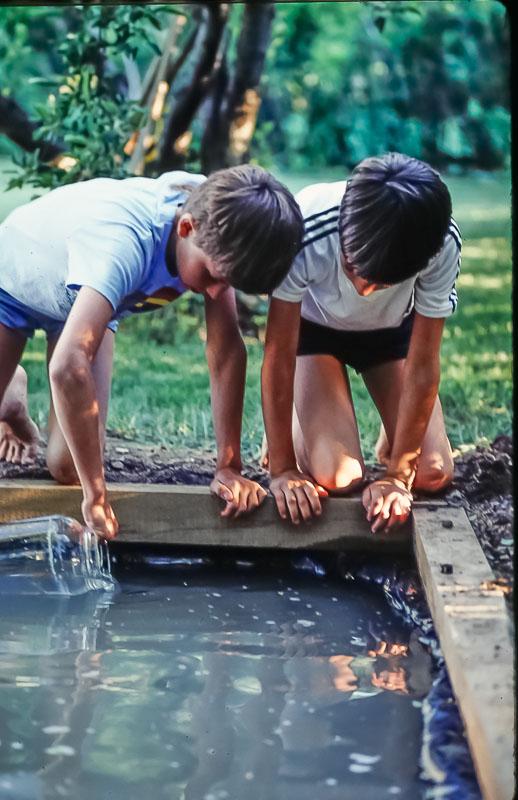 Pond work, June 1986