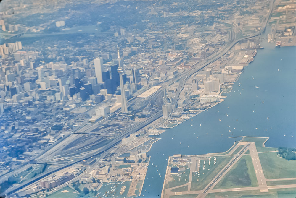 Toronto from the air, June 1986
