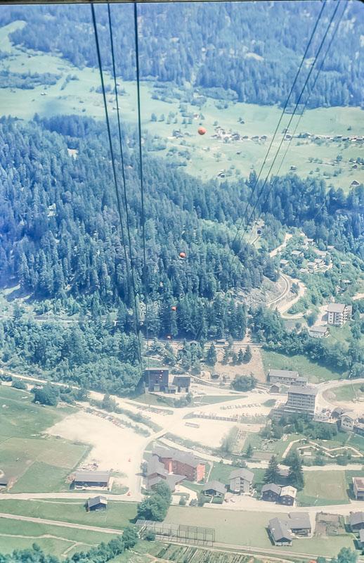Fiesch Eggishorn cable car, zjune 1986