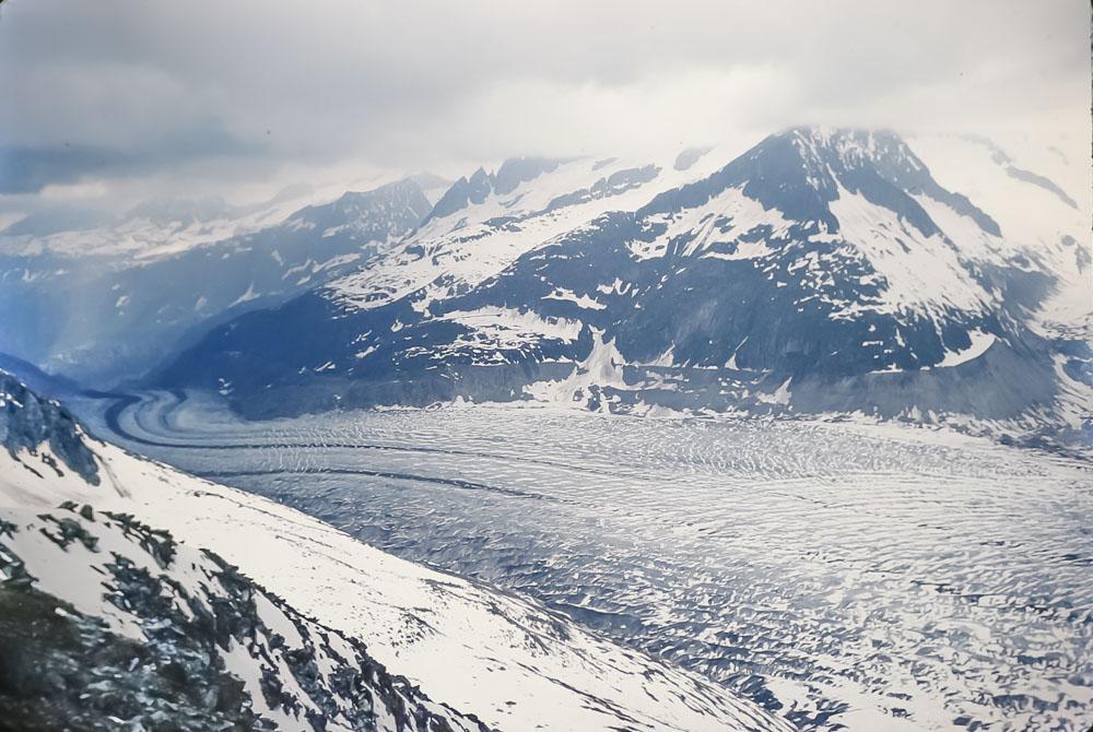Gietsch-Rhône glacier, June 1986