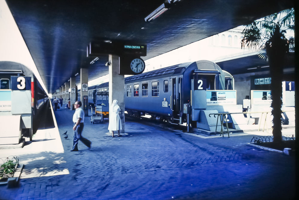 Venice train station, June 1986