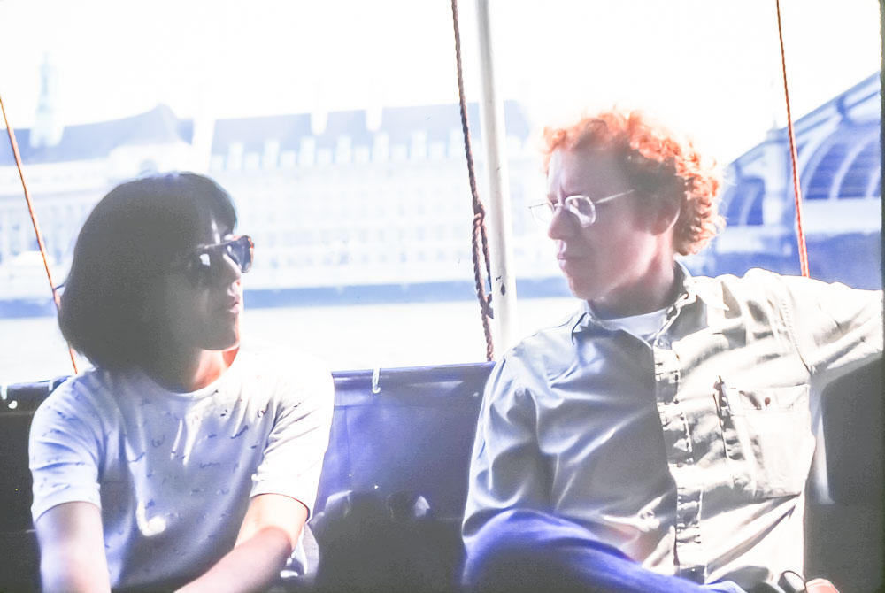 Amy and Bob Finkle on riverboat tour, June 2986