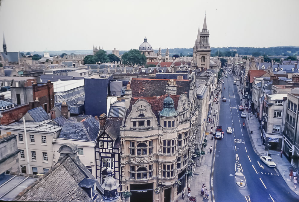Oxford from tower, June 1986