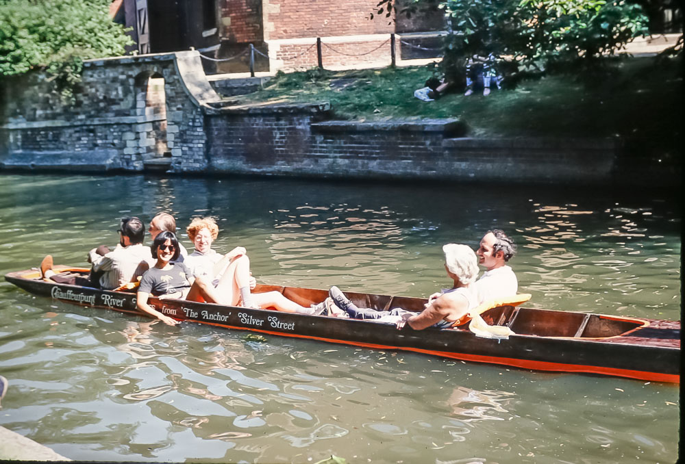 Amy and Bob, Juerg and Valerie, Cambridge, June 2986