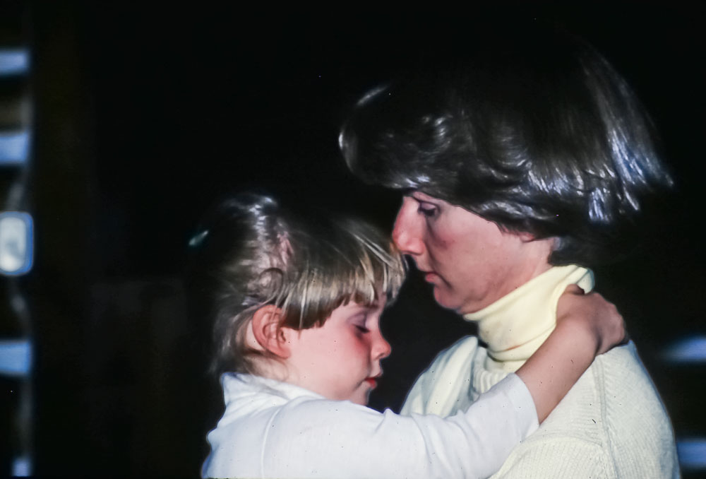 Liz and Claire, June 1986
