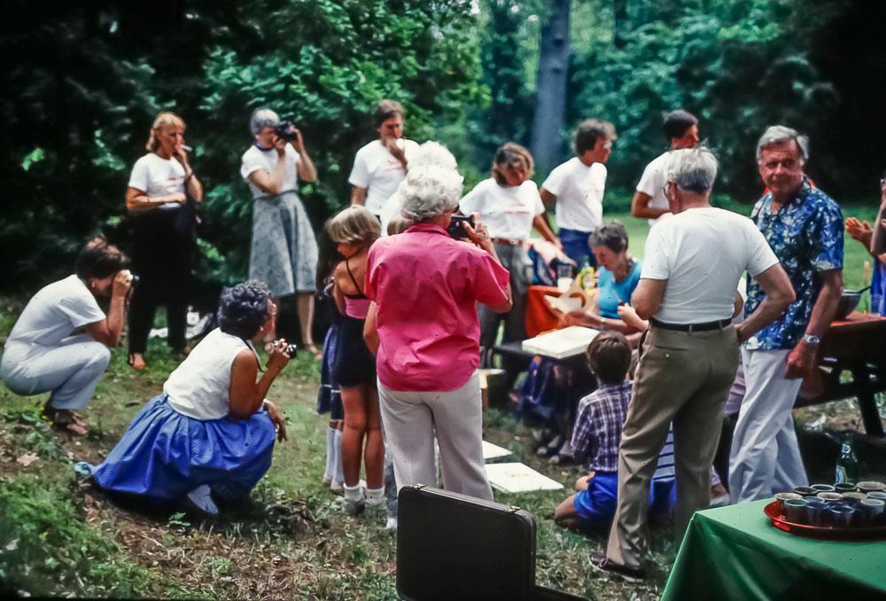 Anniversary guests, June 1986