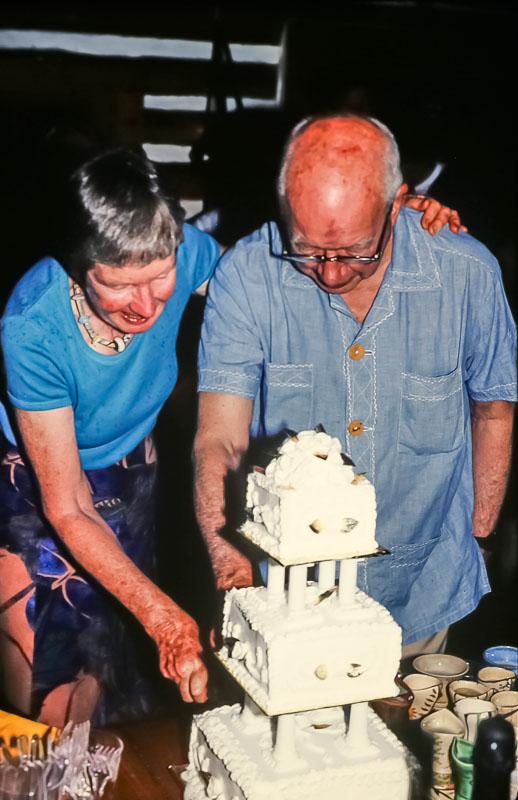 Cutting the cake, June 2986