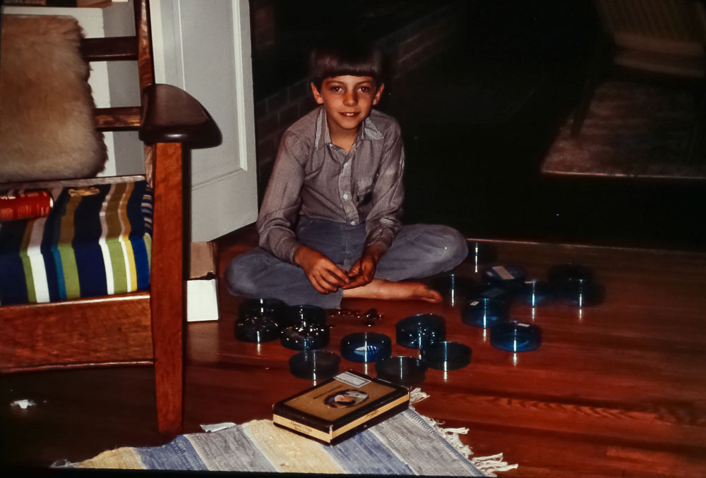Steven counting money, 1986