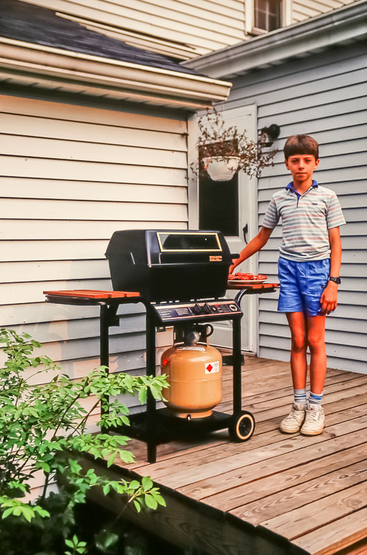 First gas grill, 1987