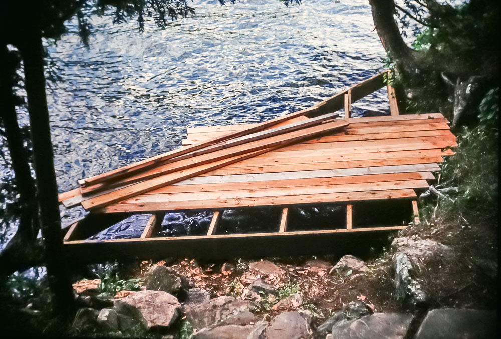 new main cabin dock, 1987