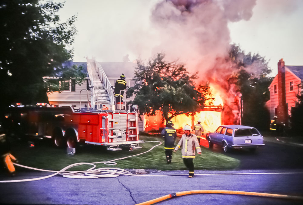 fire on Evandale, 1987