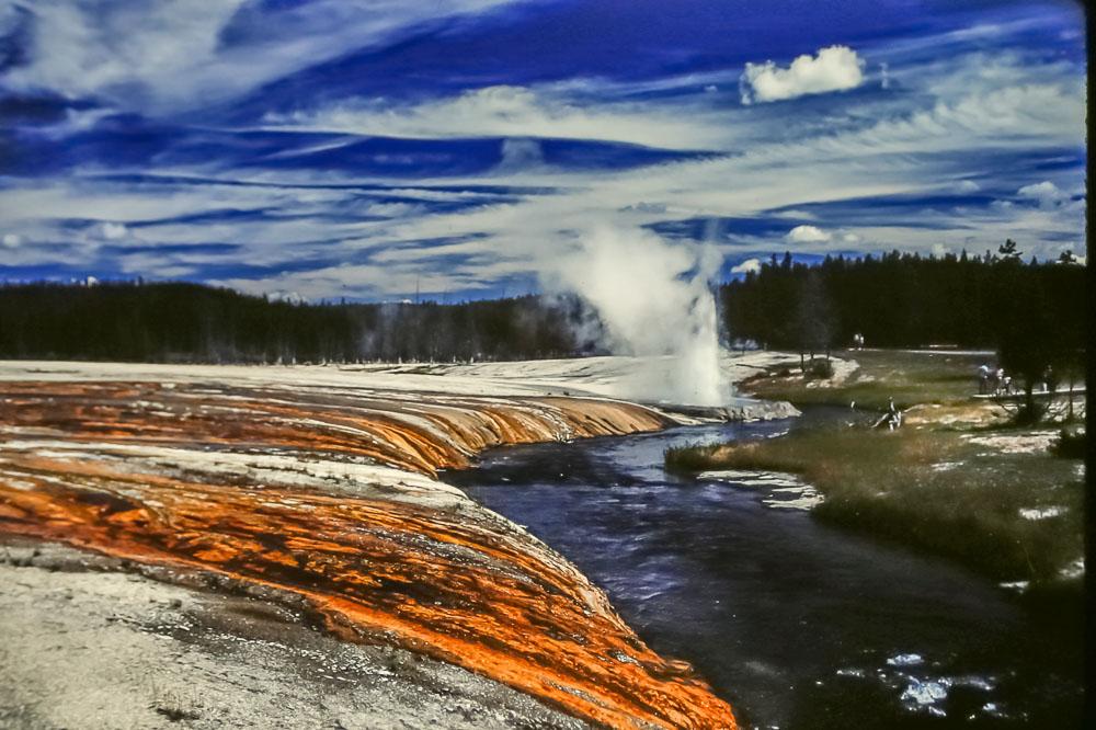 Mammoth pools at Yellowstone, 1987